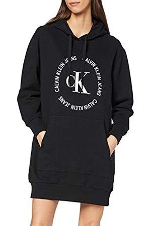 Calvin Klein Women's CK Round Logo Hooded Knit Dress BAE