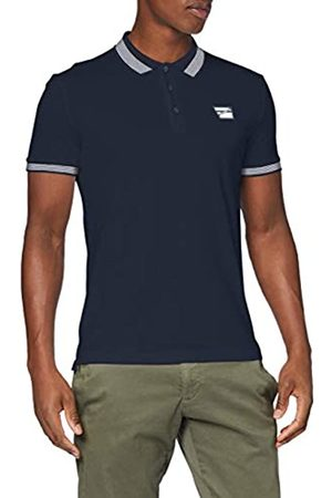 Antony Morato Men's Polo TRE Bottoni,nastro Ai Fianchi Costina Con Righe in Contrasto Shirt