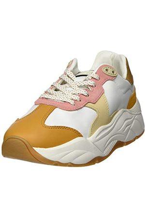SCOTCH & SODA FOOTWEAR Women's Celest Low-Top Sneakers, (Wht- Multi S297)