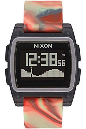 NIXON Mens Digital Watch with Silicone Strap A1104-3178-00