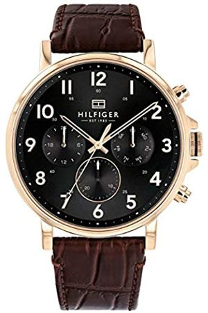 Tommy Hilfiger Mens Multi dial Quartz Watch with Leather Strap 1710379