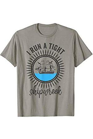 MMN I run a tight shipwreck Designs Co I run a tight shipwreck womens funny mom dad mother's day T-Shirt