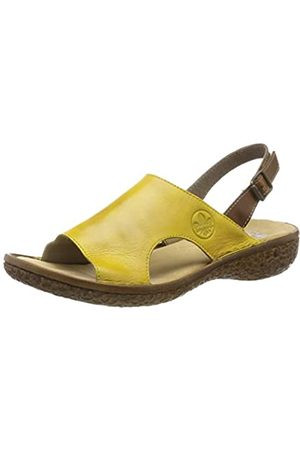 Rieker Women's V69J5-68 Closed Toe Sandals, Gelb (Quitte/Mogano 68)