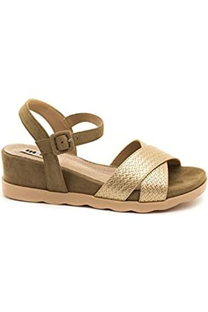 MTNG Collection Women's 58361 Platform Sandals, (Fabraid Oro/Join Arena C49471)