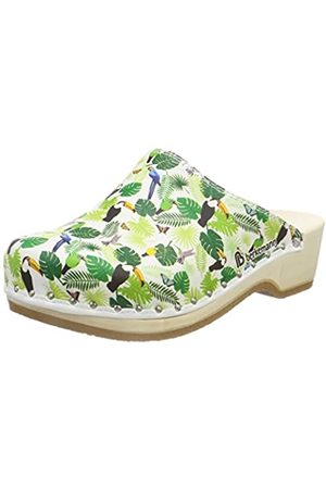 Berkemann Adults' Natur-Toeffler Clogs (Weiß/tukan 076) 5.5 UK