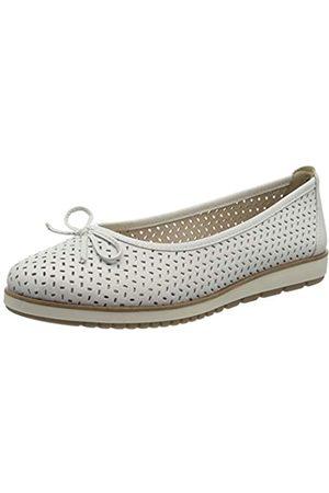 Tamaris Women's 1-1-22121-24 Leder Closed Toe Ballet Flats, ( Leather 117)