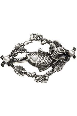 Schnabel Beak Fishing Brooch Badge Fish Men's Ring Plated Brushed 002423/V178