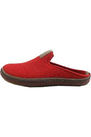Haflinger Unisex Adults' Everest Ontario Open Back Slippers, (Paprika 42)