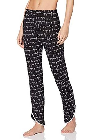 Lovable Women's and White Viscose Pajama Bottom