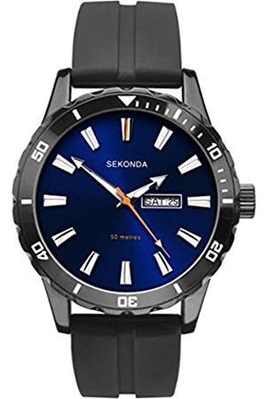 Sekonda Unisex-Adult Analogue Classic Quartz Watch with Rubber Strap 1372.27
