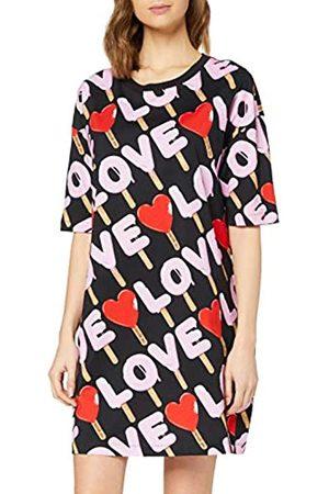 Love Moschino Women's Dress_Allover Ice Logo Prints