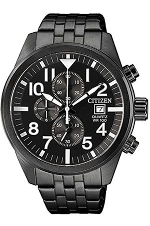 Citizen Mens Chronograph Quartz Watch with Stainless Steel Strap AN3625-58E