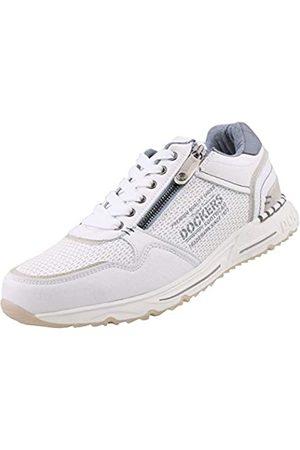 Dockers Men's 46pl001-640500 Low-Top Sneakers, (Weiss 500)