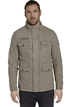 Tom Tailor Men's Gewaschene Feld Jacket, 10941-Coastal Fog