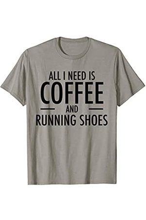 Funny Running Gifts Coffee and Running Shoes Awesome Run Gift for Runners T-Shirt