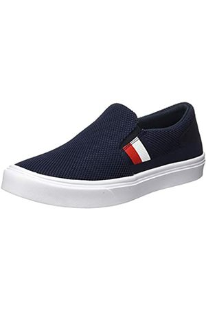 Tommy Hilfiger Men's Lightweight Stripes Knit Slip On Low-Top Sneakers, (Desert Sky Dw5)