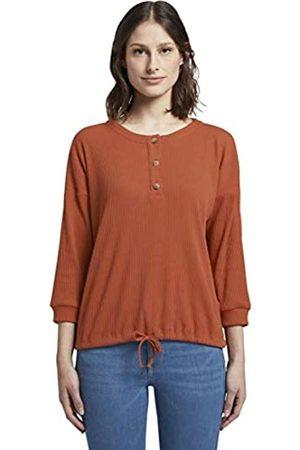 TOM TAILOR Women's Langarm T-Shirt, 19759-Fox