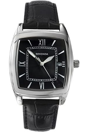 Sekonda Men's Quartz Watch with Dial Analogue Display and Leather Strap 3776.71