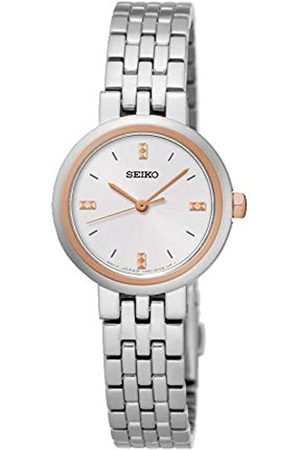 Seiko Womens Analogue Classic Quartz Watch with Stainless Steel Strap SRZ458P1