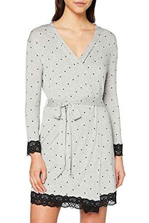 Pour Moi? Women's Spot Print Jersey Lace Trim Robe Bathrobe