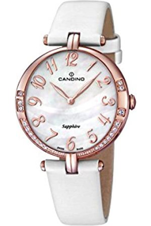 Candino Women's Quartz Watch with Mother of Pearl Dial Analogue Display and Leather Strap C4602/2