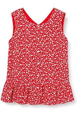 Tommy Hilfiger Girl's Floral TOP Slvls Sports Shirt, (Deep Crimson/Flower Print 0KP)