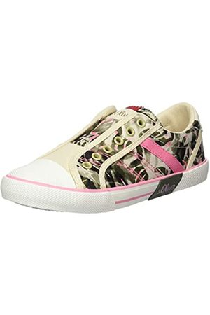 s.Oliver Girls' 5-5-44200-24 Low-Top Sneakers, (Flower Comb 555)