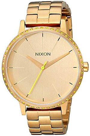 NIXON Men's Kensington Neon Yellow Quartz Watch with Dial Analogue Display and Stainless Steel Bracelet A0991900-00