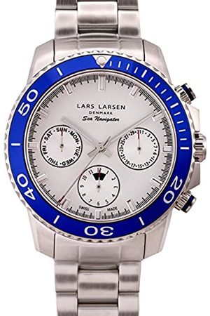 Lars Larsen Sea Navigator Men's Quartz Watch with Dial Analogue Display and Stainless Steel Bracelet 134SSDSB