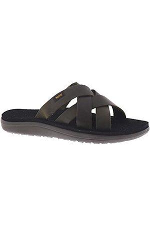 Action Sports (Teva DE) Men's Voya Slide Leather Sandal Flip Flops, (Dark Olive DOL)