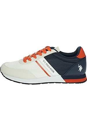 U.S. Polo Assn. US Polo Association Men's Brandon Gymnastics Shoes, (Off/Dk Bl 028)