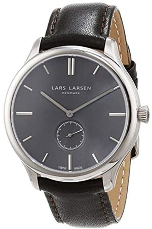 Lars Larsen LW22 Men's Quartz Watch with Dial Analogue Display and Stainless Steel Strap 122SGBLL