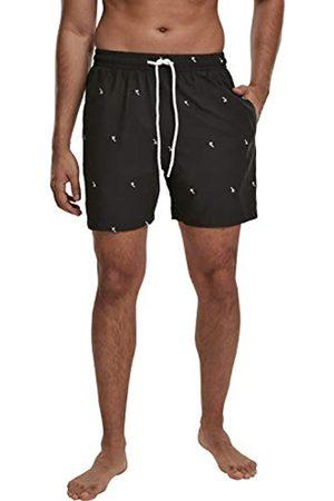 Urban Classics Men's Embroidery Swim Shorts Trunks