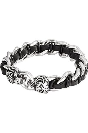 Lower East Men's Bracelet Leather Stainless Steel 23 cm-Le 131-200