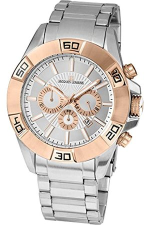 JACQUES LEMANS Gents Watch Liverpool Analogue Quartz Stainless Steel Coated