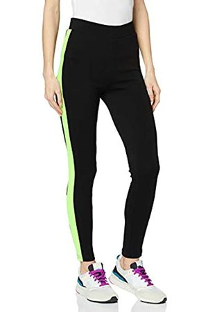 Urban Classics Women's Leggings Ladies Neon Side Stripe Hose Dress Pants