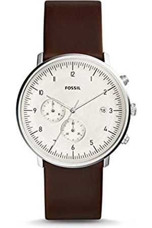 Fossil Mens Chronograph Quartz Watch with Leather Strap FS5488