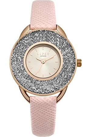 Lipsy Womens Analogue Classic Quartz Watch with PU Strap SLP010PRG
