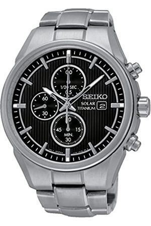Seiko Men's Chronograph Quartz Watch with Titanium Bracelet - SSC367P1
