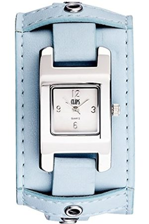 Clips Women's Quartz Watch with Dial and Leather Strap 553-1008-89