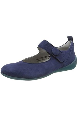 Think! Women's 686216_CUGAL Ankle Strap Ballet Flats, (Indigo 89)