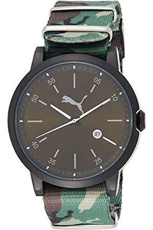 PUMA Liberated Men's Quartz Watch with Green Dial Analogue Display and Green Nylon Strap PU104231004