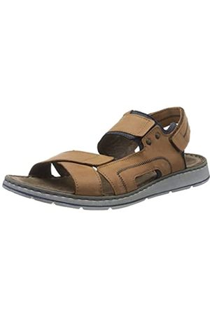 Rohde Men's Brunello Ankle Strap Sandals, (Camel 75)