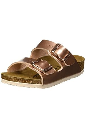 Birkenstock Boys' Arizona Open Toe Sandals, Electric Metallic Copper