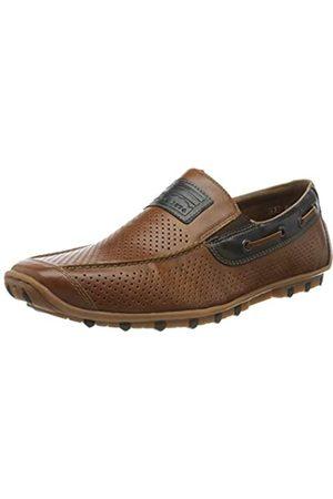 Rieker Men's Frühjahr/Sommer Loafers, (Peanut/Ozean/Amaretto 24)