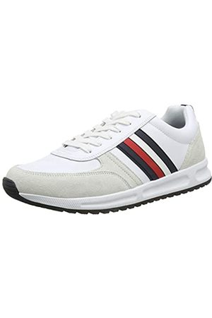 Tommy Hilfiger Men's Modern Corporate Leather Runner Low-Top Sneakers, ( Ybs)