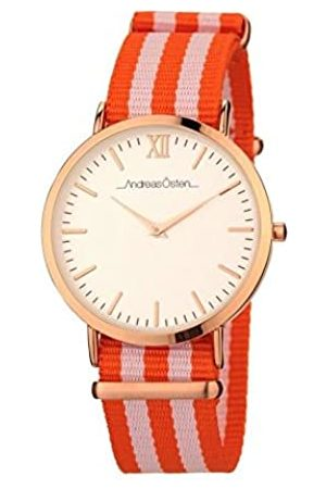 Andreas Osten Womens Analogue Quartz Watch with Nylon Strap AO-40