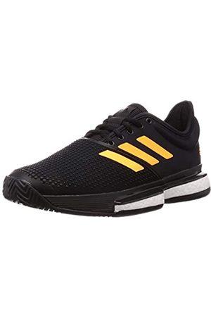 adidas Men's Solecourt M Tennis Shoes, (Negbás/Narfla/Carbon 000)
