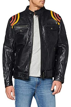 King kerosin Men's Cafe Racer Leather Jacket