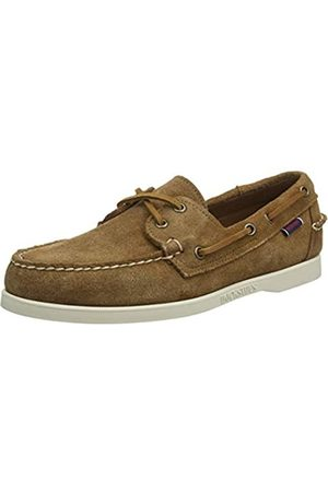 Sebago Men's Docksides Portland Suede Boat Shoes, ( Cognac 907)